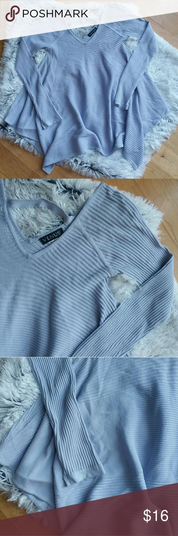 Lavender Ribbed Asymmetrical Sweater Size XS/Small Nordstrom Sweaters
