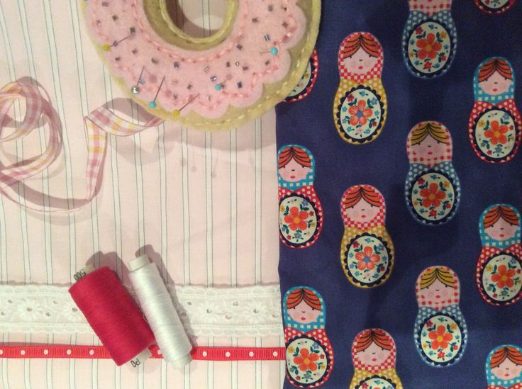 11yr old student enjoys choosing trims for appliqué on drawstring pyjama bag. It's all part of the design process.