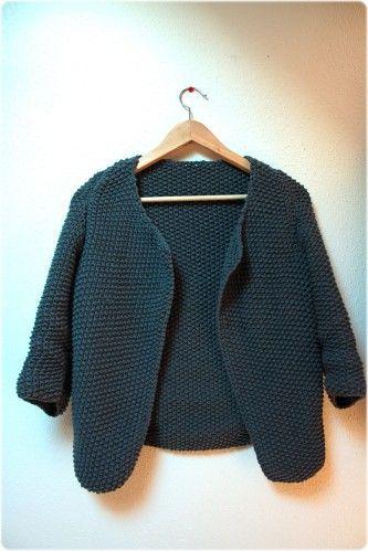 Voilà une petite veste en point de riz que je me suis tricotée il y a un petit moment maintenant (en septembre!!) mais que j'ai mis des plombes à photographier! Le modèle est issu du catalogue Phildar de cet été, j'avais flashé dessus en la voyant (je...