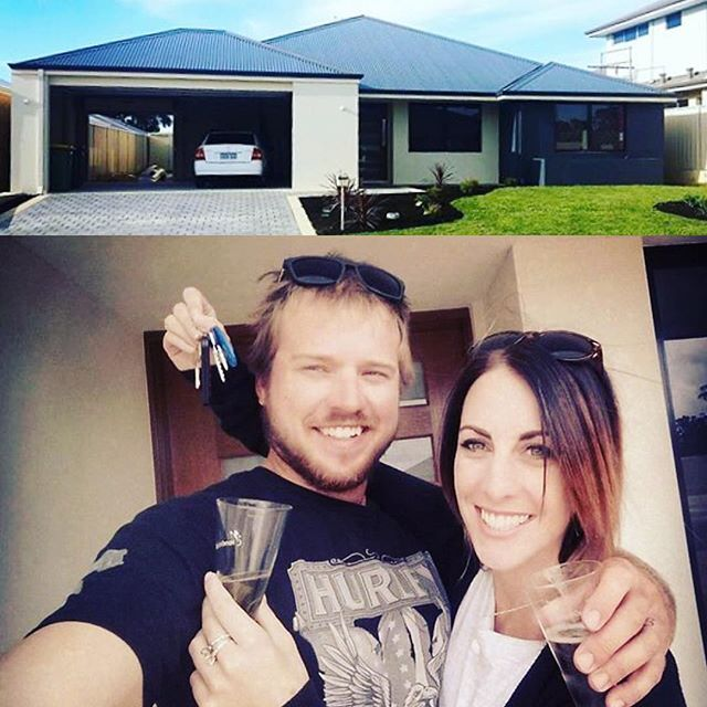 Nothing like your first night in a brand new home, cheers to the happy homeowners!  #homegroupwa #firsthomeowners #meadowsprings #dreamhome
