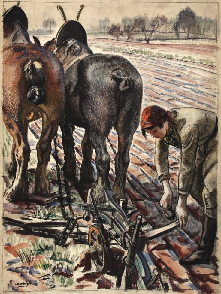 Land Army Girl (1939) by Laura Knight