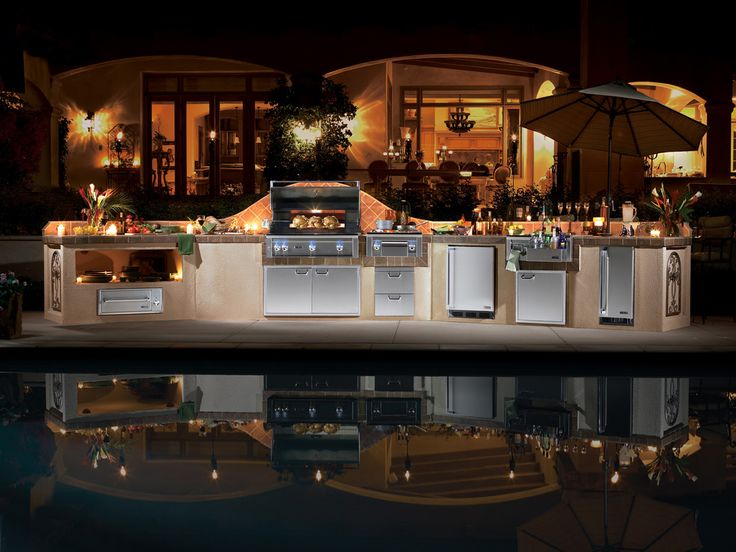 Luxury Outdoor Kitchen And Appliances #Luxury #Homes #Backyards #Kitchens  #Appliances #