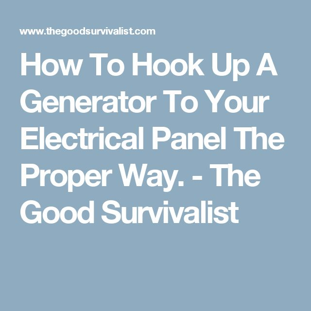 How Do You Hook Up a Generator to Your House - Portable Generators