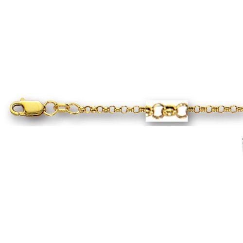 10k 2.5mm Rolo Chain Ankle Bracelet - 10 Inch - JewelryWeb JewelryWeb. $99.00. Solid 10k gold. Lobster Caw Clasp