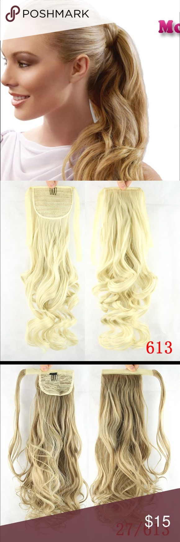 Hair Extension Ponytail Hair extension pony tail has comb for support along with ribbon tie to secure, you can use heat natural feel & look 20' inch, Accessories Hair Accessories