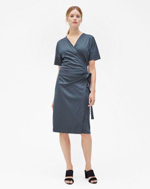 Belted Wrap Dress Pigeon  f2590cd5ef1f
