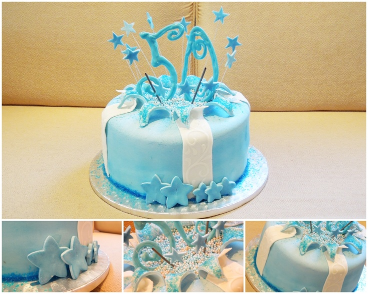 50th birthday cake blue gift treasure cake for 50th birthday cake decoration ideas