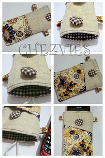 CELL PHONE POUCH with POCKET tutorial