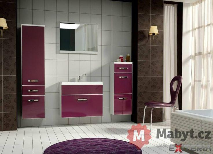 Fialková luxusní koupelna Orchidea za skvělou cenu! http://www.mabyt.cz/38158-nabytek-do-koupelny-orchidea.htm