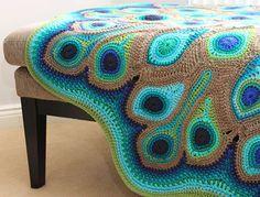crochetcoyote: Made by: http://www.butterflyblankets.me