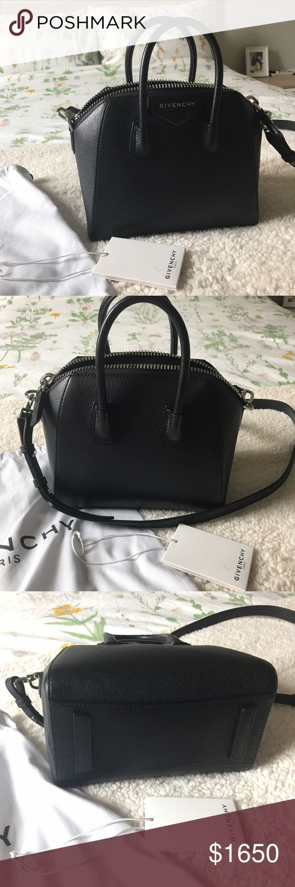 Givenchy antigona mini black. Excellent condition. Comes with dust bag and tag. Accept reasonable offers. $1450 via p ay p al Givenchy Bags Crossbody Bags