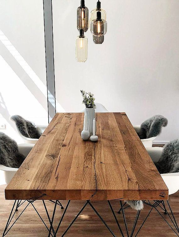 Massivholztisch Designtisch Esstisch Holztisch Aus Eiche Vitra Daw Holz Hambur Dining Table Solid Wood Table Wooden Dining Tables