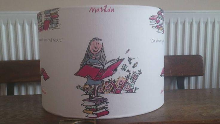 Matilda fabric covered lampshade