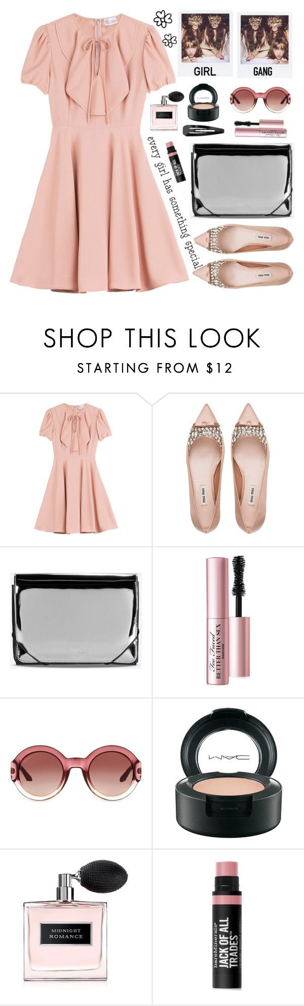 """Girls just wanna to have fun...."" by karineminzonwilson ❤ liked on Polyvore featuring RED Valentino, Miu Miu, MM6 Maison Margiela, Too Faced Cosmetics, Gucci, MAC Cosmetics, Ralph Lauren, Bare Escentuals, Forever 21 and women's clothing"