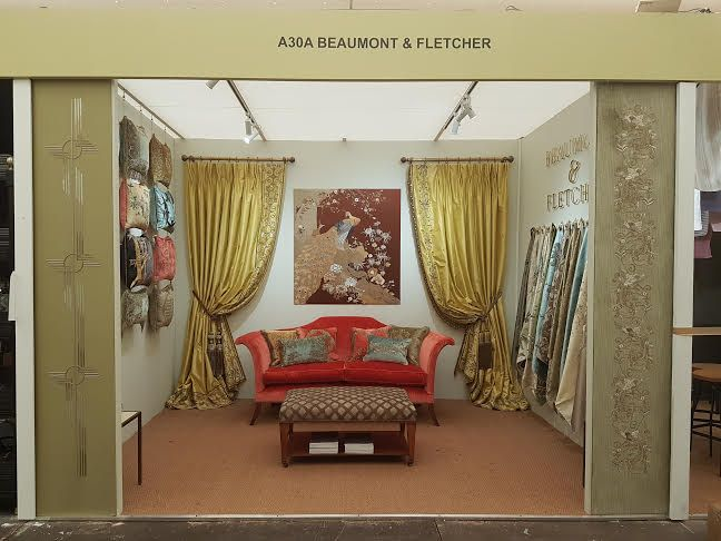 Here we are at Decorex 2016 on Stand A30A showcasing our couture fabrics and cushions and handcrafted furniture.