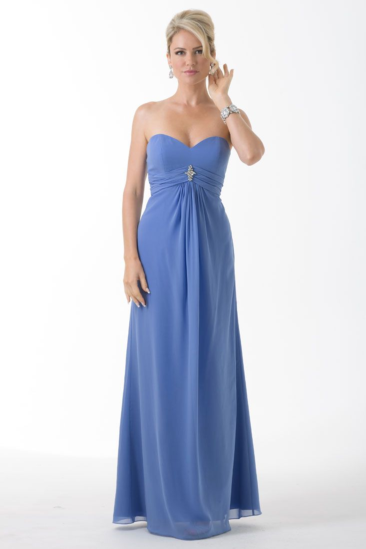 37 best bridesmaids spring16 images on pinterest bridesmaid chiffon strapless floor length dress with pleated band at waist and a beaded appliq fabrics chiffon view colour chart colour shown periwinkle colour ombrellifo Image collections