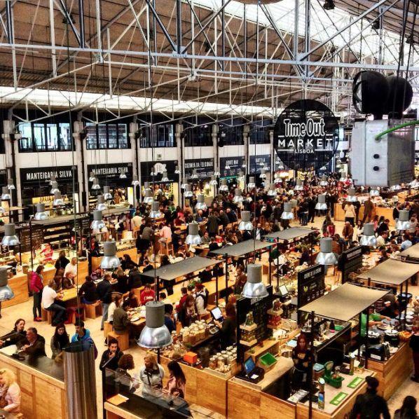 Lisboa - Mercado da ribeira (foodhallen)