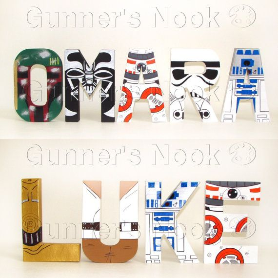 SALE Star Wars Character Letter Art Price Per by GunnersNook