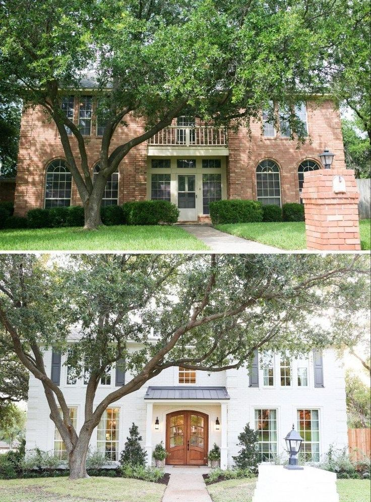 The before and after. The changes to the square windows and the white paint and the new door and roof have made this house so much more classy! image17