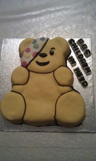 Pudsey Bear cake for charity raffle