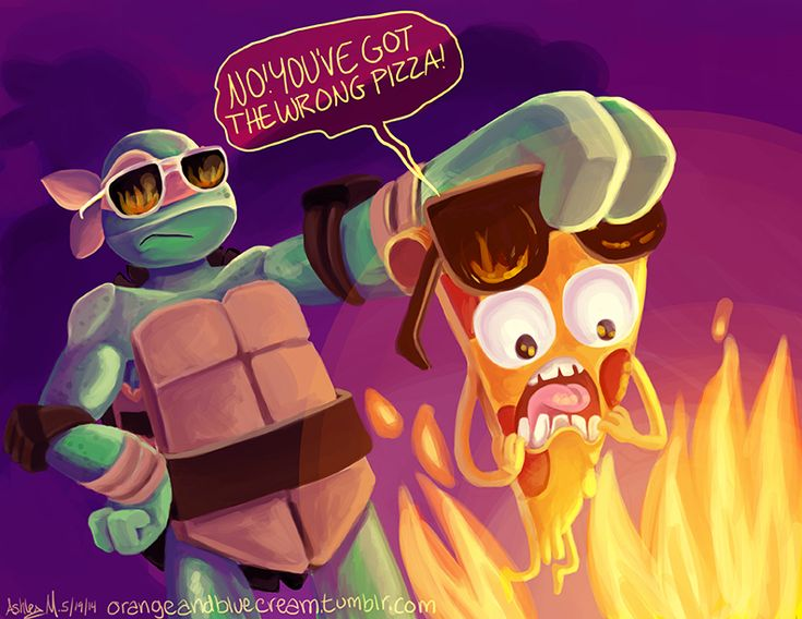 """This is what I was thinking about during the new episode. Pizza Steve abuse. """"Pizza Steve is too cool for flames. Save me Uncle G!"""""""
