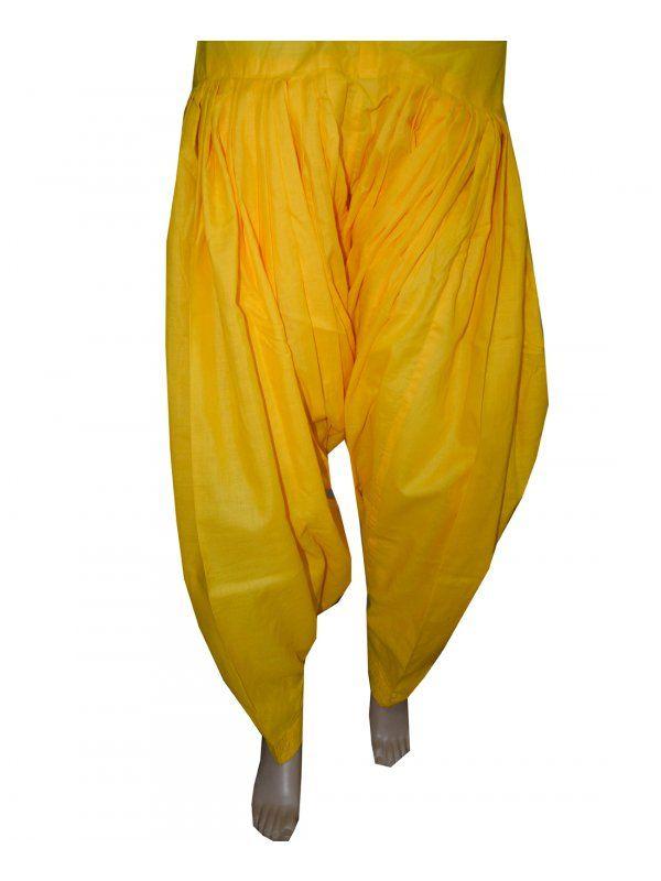 Yellow Patiala Salwar online at best price  Patiala Salwar Direct from Patiala    Cotton Metrial 3 Meter Patiala Salwar    Length 39 Inch    Free Size    Wash Care - Soft Wash       Shop Now : https://www.punnjab.com/yellow-patiala-salwar-jsp1044