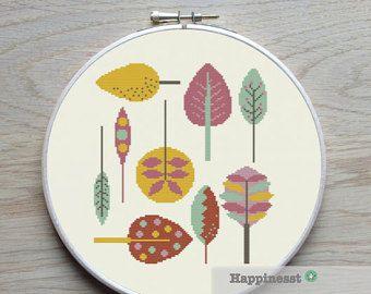 cross stitch pattern flowers little retro flowers PDF