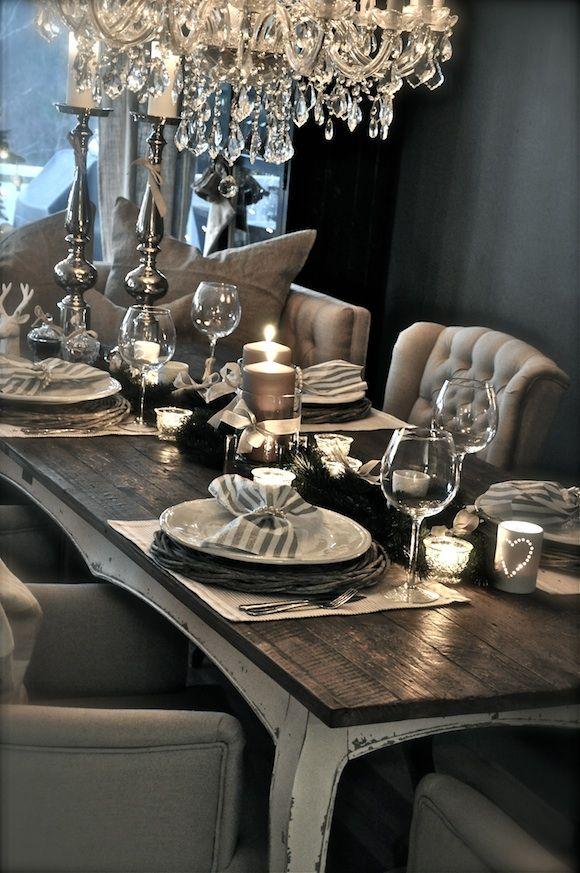 table chic et rustique