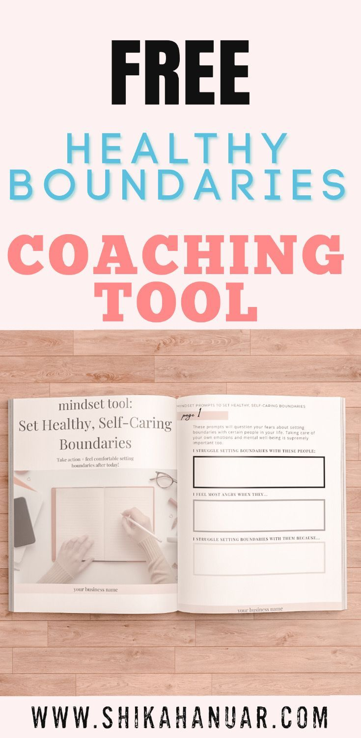 How To Coach Clients To Set Healthy Boundaries Pdf Worksheet For Healthy Boundaries Mindset Shift Shikah Anuar Healthy Boundaries Worksheets Healthy Boundaries Setting Boundaries Worksheet