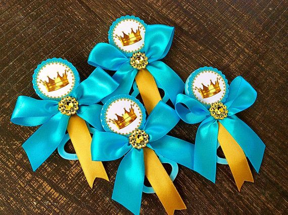 12 Little prince baby shower guest pins  by Marshmallowfavors