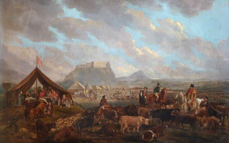 All Hallows Fair on the Boroughmuir, Edinburgh  James Howe (1780–1836)