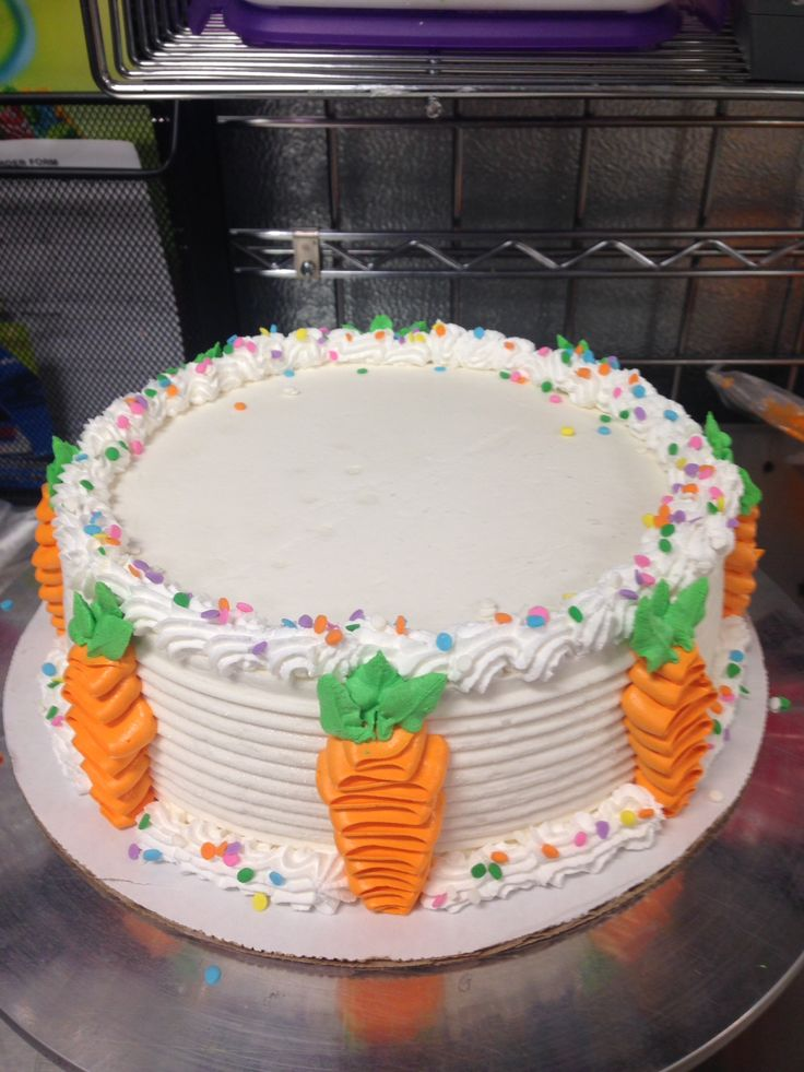 Easter ice cream cake with carrots