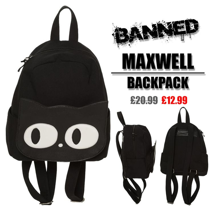 I'm not sure if he looks like a Maxwell? Maybe a Brian?⠀ ⠀ Image: Banned Maxwell Backpack (Sale Item)⠀  #SaturdaySale #Caturday #Sale #Fun #CatBag #CatBackpack