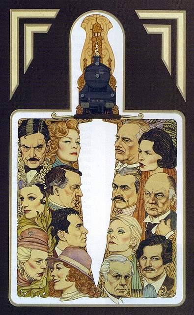 "Trains & Travel:  Richard Amsel's great poster for the all-star movie ""Murder on the #Orient #Express."""