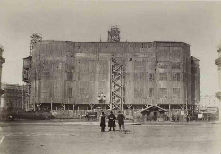 Construction de l'opéra Garnier en 1860 - Paris au XIXeme siècle