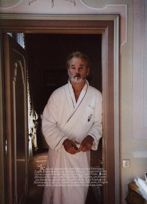 bill murray. the good looking man with lots of problems and a sense of humor. my favorite.