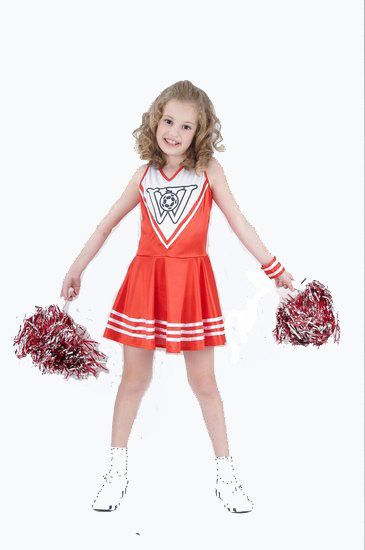Cheerleader kostuum voor meisjes #cheerleader #cheerleaderpak #cheerleaderjurk