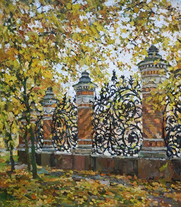 Октябрь в Михайловском саду, автор Еськов Павел. Артклуб Gallerix