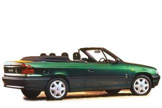 '98 1.6 Vauxhall Astra Convertible. First car, bought for £600 at 19.