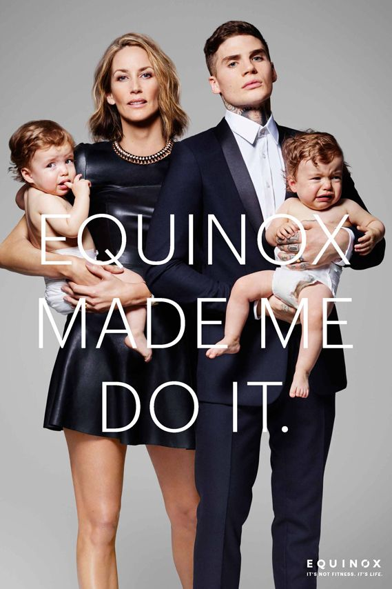 Another bold and glamorous photographic campaign for US gym brand Equinox, by Wieden + Kennedy