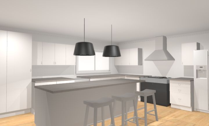 Initial drawings for kitchen in Nords Wharf