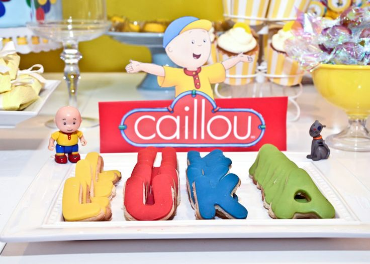 31 best Caillou Party images on Pinterest Anniversary parties