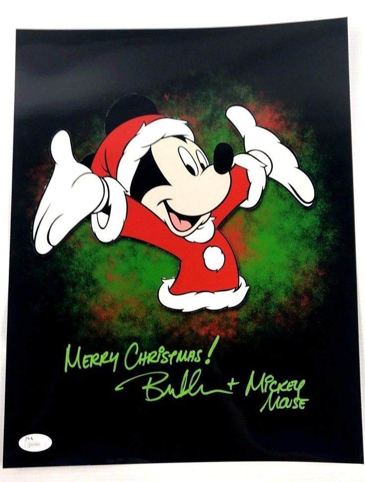 Bret Iwan Autograph 11x14 Photo Mickey Mouse Picture Signed JSA COA