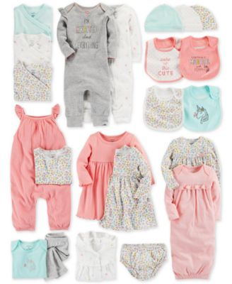 1d98393136 Carter s Baby Girls 2-Pack Cotton Sleeper Gowns - Pajamas - Kids - Macy s