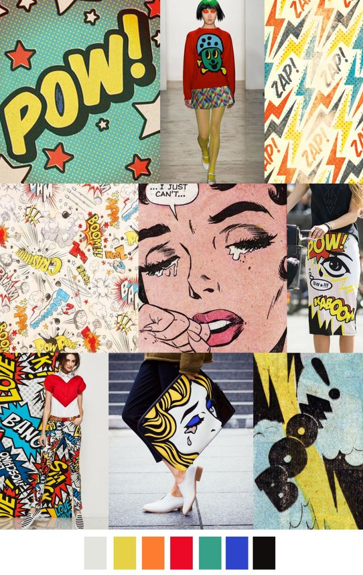 S/S 2017 colors & patterns trends: COMIC-CON