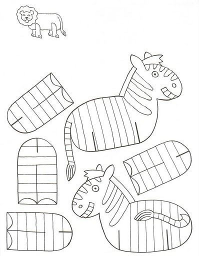 Cantinho Alternativo: Animais Para Imprimir e Montar