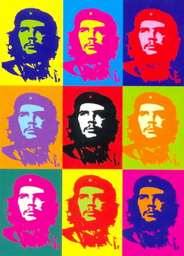 """Andy Warhol, """"Che Guevara"""", 1968. A Pop art propunha que se admitisse a crise da arte que assolava o século XX desta maneira pretendia demonstrar com suas obras a massificação da cultura popular capitalista. Procurava a estética das massas, tentando achar a definição do que seria a cultura pop, aproximando-se do que se costuma chamar de kitsch. Diz-se que a Pop art é o marco de passagem da modernidade para a pós-modernidade na cultura ocidental."""