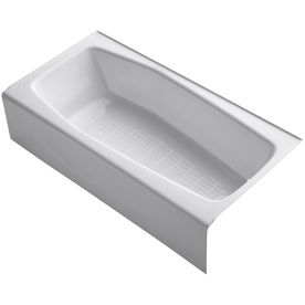 KOHLER Villager Cast Iron Rectangular Skirted Bathtub with Right-Hand Drain (Common: 31-in x 60-in; Actual: 14-in x 30.25-in x 60-in)