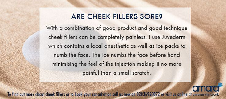 Are Cheek Fillers Sore