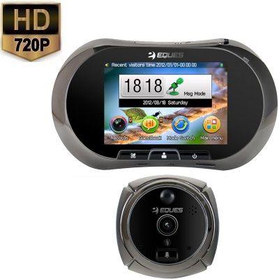 Deur Camera LCD Bewegingsdetectie HD 720P  Deze deurspy camera maakt nu direct een foto of video wanneer er een persoon voor de deur staat. Bij beweging wordt er dus direct een foto of video opname verricht dit is vooraf door u in te stellen. De beelden worden in hoge HD beeld kwaliteit opgenomen. Daarnaast is dit model voorzien van nachtzicht.U installeert de digitale peephole viewer binnen enkele stappen in de voordeur en kan direct zien op het LCD scherm wie er voor de deur staat. De…